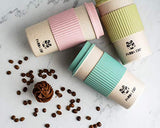 Panda Cup Eco-Friendly Reusable Coffee Cup with Lid Sustainable Organic Bamboo Fiber BPA Free Dishwasher Microwave Safe Portable Eco Cup 16oz/450ml - Eco Trade Company