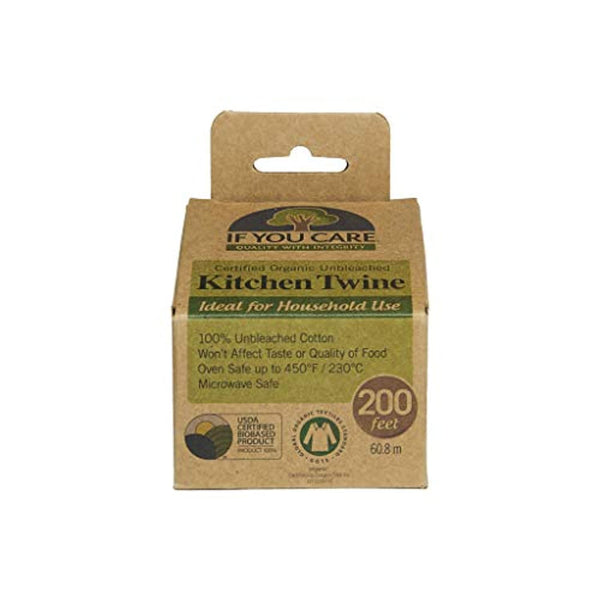 100% Natural Cooking Twine, 200 ft, Unbleached - Eco Trade Company