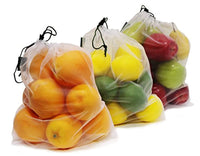 Earthwise Reusable Mesh Produce Bags - Washable Set of 9 Premium Bags - Eco Trade Company