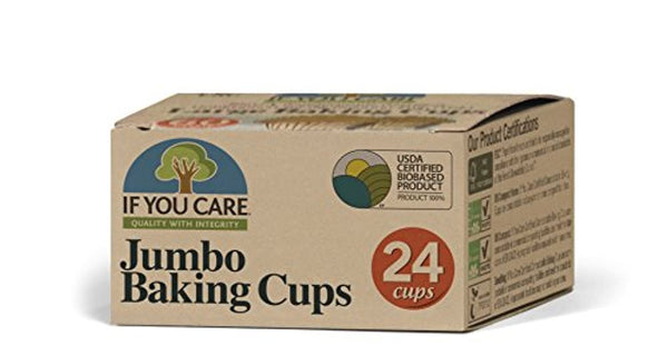 Jumbo Baking Cups, 24Count Packages (Pack Of 24) Unbleached Totally Chlorine-free - Eco Trade Company