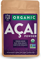 Organic ACAI Powder (Freeze-Dried) Resealable Kraft Bag 100% Raw Antioxidant Superfood Berry From Brazil - Eco Trade Company