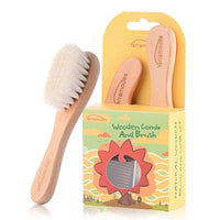 Baby Goat Hair Brush and Comb Set for Newborns & Toddlers Eco-Friendly & Safe - Eco Trade Company
