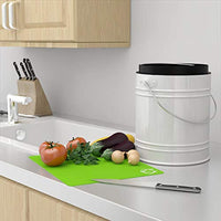 Oversized 1.3 Gallon Kitchen Compost Bin with EZ-No Lock Lid - Eco Trade Company