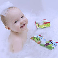 Baby Bath Books, Waterproof Nontoxic Fabric Soft Baby Bath Toys Early Education Activity for Toddler, Infants and Kids - Pack of 6 - Eco Trade Company
