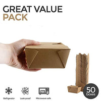 Take Out Food Containers Microwaveable Kraft Brown Take Out Boxes 30 oz (50 Pack) - Eco Trade Company