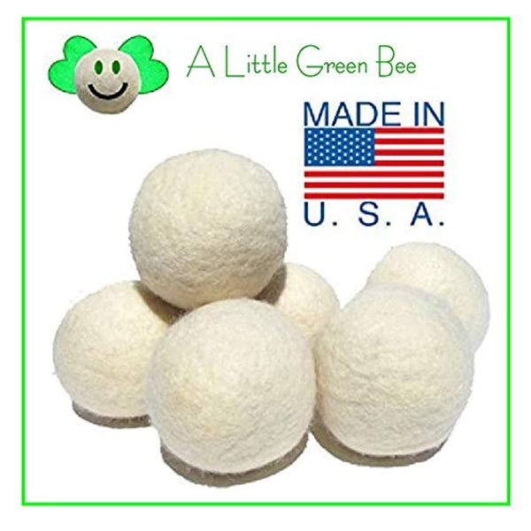 6 Eco-Friendly Wool Dryer Balls -Set of Six 100% Handmade, Natural and Unscented Made in USA - Eco Trade Company