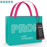 "Reusable Stylish Tote Bags, 5 Pack - 20"" x 15"" x 5"" - Eco Trade Company"
