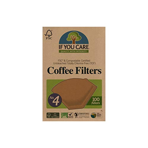 Unbleached Coffee Filters, #4 cone, 100 count - Eco Trade Company
