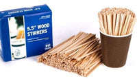 "Royal 1000 Count Wood Coffee Beverage Stirrers, 5.5"" - Eco Trade Company"