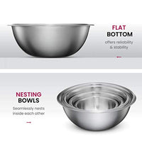 Premium Stainless Steel Mixing Bowls Set of 6 - Eco Trade Company