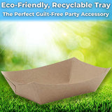 Eco-Friendly 3lb Food Holder Trays,Party Snack Boat for Nachos, Tacos or BBQ Made in USA - Eco Trade Company