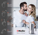French Press Double Insulated 310 Stainless Steel Coffee Maker 4 Level Filtration System, No Coffee Grounds, Rust-Free, Dishwasher Safe - Eco Trade Company