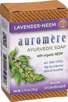 Ayurvedic Bar Soap Lavender-Neem - All Natural Handmade and Eco-friendly Bar Soap for Sensitive Skin - 2.75 oz (2 Pack) - Eco Trade Company