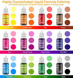 Cake Food Coloring Set, Food Grade Value, 12 Colors, Tasteless Edible, Vegan, for Baking, Cooking, Decorating, Fondant - Eco Trade Company