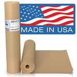 "Brown Kraft Paper Roll - 18"" x 1,200"" (100') Made in The USA - Ideal for Packing, Moving, Gift Wrapping, Postal, Shipping, Parcel, Wall Art, Crafts - Eco Trade Company"