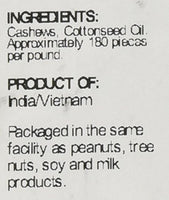 Sincerely Nuts – Whole Cashews Roasted and Unsalted - Eco Trade Company