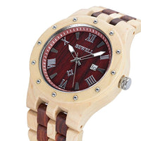 Men's Wooden Watches Handmade Analog Quartz Luminous Wristwatch - Eco Trade Company