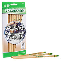 Natural Wood Pencils, Wood-Cased, Soft, Natural - Eco Trade Company