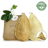 Natural Dish Scrubber | Pack 2 Vegetable Sponge 100% Loofah Plant - Compostable Dishwashing - Eco Trade Company