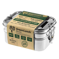 Stainless Steel 3-in-1 Bento Lunch Box with Pod Insert - Holds 6 Cups of Food - Eco-Safe, Healthy, Durable Lunch Container for Kids and Adults - Eco Trade Company