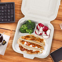 Eco Friendly to Go Containers - Non Soggy, Leak Proof, Disposable to Go Boxes Made from Cornstarch - Eco Trade Company