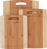 Utopia Kitchen 3 Piece Natural Organic Bamboo Cutting Boards with Juice Grooves - BPA Free - Eco-friendly - Eco Trade Company