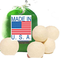 5 Eco-Friendly Wool Dryer Balls -100% Handmade, Natural and Unscented Quality Wool - Made in USA - Eco Trade Company