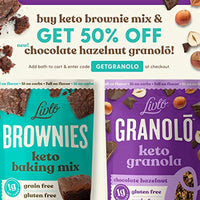 Livlo Keto Brownie Baking Mix - 1g Net Carb Dessert - Sugar Free & Gluten Free Keto Sweets & Treats - Nut Free, Low Carb - 12 servings - Eco Trade Company