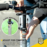 Commuter Kick Scooter for Adults, Teens | Foldable, Lightweight w/ABEC-9 Wheel Bearings | Height-Adjustable, 220LB Max Load - Eco Trade Company