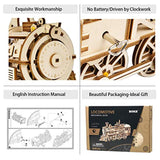 3D Wooden Puzzle-Self Propelled Mechanical Model Train - Eco Trade Company