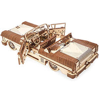 Dream Cabriolet VM-05 Mechanical Model Kit, Wooden 3D Car Puzzle for Self Assembling - Eco Trade Company