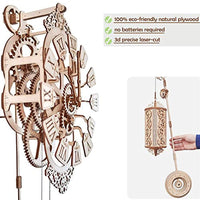 Wood Trick Pendulum Wall Clock Kit to Build, Wooden DIY 3D Wooden Puzzle - Eco Trade Company