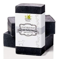 Activated Charcoal Soap Bars With Dead Sea Mud - All Natural, Made With Goat's Milk & Peppermint Essential Oil -Made in USA - Eco Trade Company