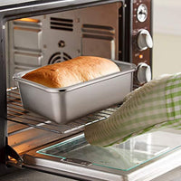 Rectangular Cake Pan, Stainless Steel 8''x10''x3'' Rust Free & Non-Toxic, Easy Clean & Dishwasher Safe - Eco Trade Company