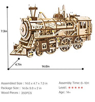 3D Wooden Puzzle Gift for Teens and Adults Locomotive Mechanical Building Model Kit - Eco Trade Company
