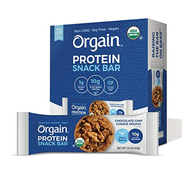 Orgain Organic Plant Based Protein Bar, Chocolate Chip Cookie Dough - Eco Trade Company