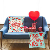 Valentine's Day Pillow Covers 18×18 Inch Set of 4 Pieces of Turquoise Pillow Case Valentine's Day Decorations Throw Pillow Covers - Eco Trade Company