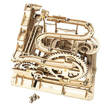 Marble Run Wooden Model Kits 3D Puzzle Mechanical Puzzles for Teens and Adults(Waterwheel Coaster) - Eco Trade Company