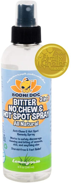 Dog New Bitter 2 in 1 No Chew & Hot Spot Spray | All Natural Anti-Chew Remedy | Safe for Skin, Wounds, Anything Else | Made in USA - Eco Trade Company