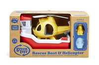 Green Toys Rescue Boat with Helicopter - Eco Trade Company