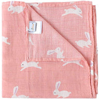 Muslin Swaddle Blankets Girls, 70% Bamboo 30% Cotton - Eco Trade Company