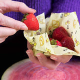 Beeswax Wraps and Silicone Lids, Eco Friendly, Reusable Beeswax Food Wraps and Covers, Sustainable Plastic Alternative, Zero Waste - Eco Trade Company