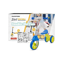 K2 Toddler 3 Wheel Scooter & Ride-On Balance Trike 2-in-1 Adjustable for 2, 3, 4, 5 Year Old Boy or Girl Transforms in Seconds - Eco Trade Company