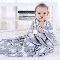 Muslin Swaddle Blankets, 70% Bamboo 30% Cotton 47 x 47 inches Breathable Soft - Eco Trade Company