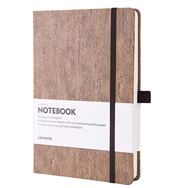 Eco-Friendly Natural Cork Hardcover Writing Notebook with Pen Loop & Premium Thick Paper + Page Dividers Gifts, A5 (5x8) Bound Notebook - Eco Trade Company