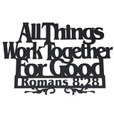 Inspirational Word Art, Christian Faith Biblical Verse Wall Sign, Hand-Made Wooden Decoration Plaque Real Wood – Made in The USA - Eco Trade Company
