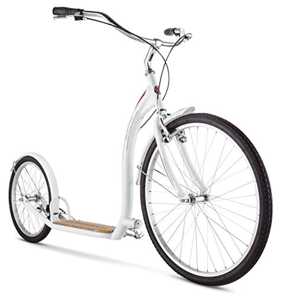 "Schwinn Adult Shuffle Scooter with 26"" Wheels, White - Eco Trade Company"