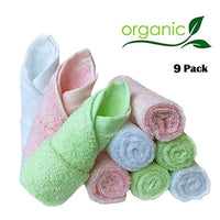 Baby Washcloths Natural Organic Bamboo Baby Face Towels - Eco Trade Company