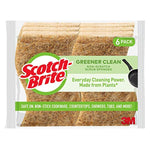 Greener Clean Non-Scratch Scrub Sponges, 6 Scrub Sponges