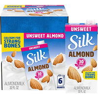 Almond Milk, Unsweetened, Dairy-Free, Vegan, Non-GMO, 1 Quart, Pack of 6 - Eco Trade Company